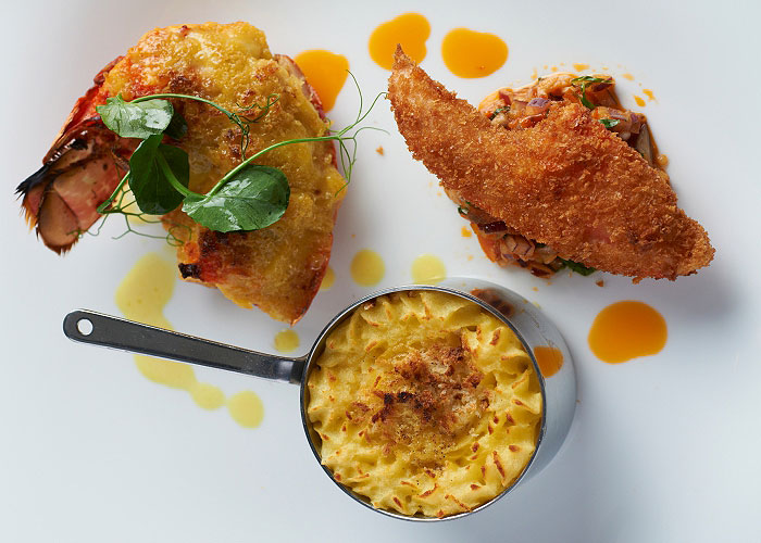 Wensleydale Heifer - Trio of Lobster Recipe