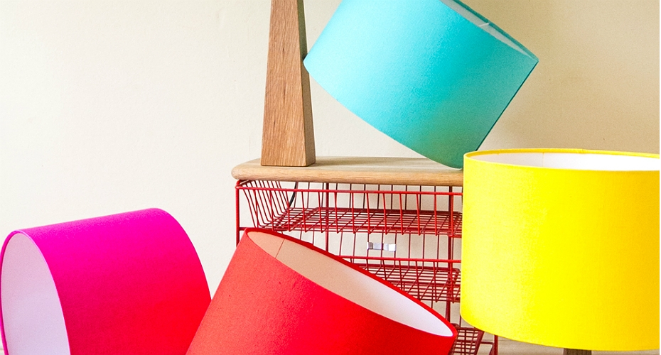 New hand crafted lighting collection in vibrant shades